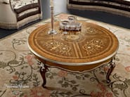 Classic Italian furniture inlaid round coffee table - Bella Vita Collection - Modenese Gastone