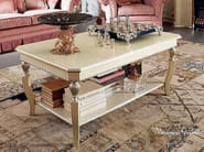 White cream rectangular luxury classic table - Bella Vita Collection - Modenese Gastone