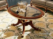 Home furnishing glass coffee table hardwood - Bella Vita Collection - Modenese Gastone