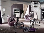 Vogue carved silver leaf furniture for living room - Bella Vita Collection - Modenese Gastone