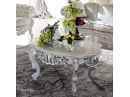 Figured coffee table with marble top Italian furniture - Bella Vita Collection - Modenese Gastone
