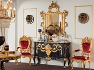 Luxury inlaid sideboard with figured mirror - Bella Vita Collection - Modenese Gastone