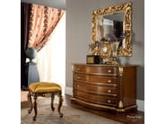 Dresser chest of drawers and carved mirror handmade high end furniture - Bella Vita Collection - Modenese Gastone