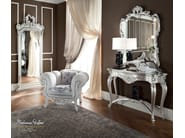 Silver mirror and console and padded armchair - Bella Vita Collection - Modenese Gastone