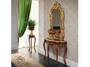 Luxury classic walnut console with tailor made mirror - Bella Vita Collection - Modenese Gastone