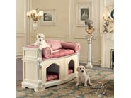 Luxury upholstered doghouse hardwood kennel - Bella Vita Collection - Modenese Gastone