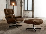 Upholstered fabric armchair with footstool 1717/1716 | Fabric armchair - Domingo Salotti