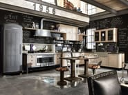 Fitted wood kitchen 1956 - COMPOSITION 01 - Marchi Cucine