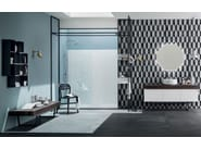 Solid wood bathroom furniture set 26 ABETE NERO - RAB Arredobagno