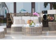 Divano da giardino con schienale alto per contract DRONE 23193 - SKYLINE design