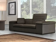 Upholstered 3 seater leather sofa with headrest BRISBANE QUILT   3 seater sofa - Tonino Lamborghini Casa by Formitalia Group