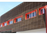 Wood panel for facade / solar shading 4SUN - Ravaioli Legnami