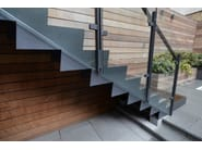 Open staircase with lateral stringers 500 | Open staircase with lateral stringers - Interbau Suedtirol Treppen