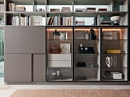 Sectional wooden storage wall 505 MULTIMEDIA - MOLTENI & C.