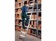 Aluminium heavy duty ladder 6048 - Frigerio Carpenterie