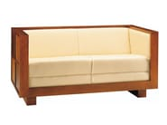 Cherry wood small sofa SCACCHI | Small sofa - Morelato