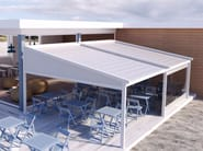 Freestanding motorized aluminium pergola with sliding cover A2 COMPACT AS - KE Outdoor Design