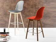 Counter stool with footrest ACADEMY W | Counter stool - Calligaris