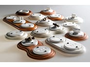 Single ceramic electrical outlet ACQUARIO | Coaxial socket - Aldo Bernardi