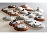 Single ceramic electrical outlet ACQUARIO | Telephone socket - Aldo Bernardi