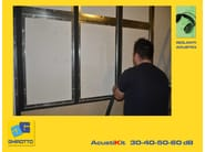 Plasterboard Sound insulation and sound absorbing panel for false ceiling ACUSTIKIT 30 dB - GHIROTTO TECNO INSULATION