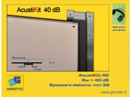 Plasterboard Sound insulation and sound absorbing panel for false ceiling ACUSTIKIT 40 dB - GHIROTTO TECNO INSULATION