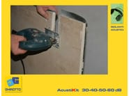 Plasterboard Sound insulation and sound absorbing panel for false ceiling ACUSTIKIT 50 dB - GHIROTTO TECNO INSULATION