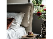 Leather double bed with upholstered headboard ADAM - Cattelan Italia