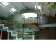 Glass and steel balustrade ALBA R09-ALU - FARAONE
