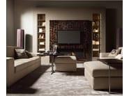 Tavolino da caffè modulare in acciaio in stile moderno da salotto ALFRED | Tavolino quadrato - Caroti