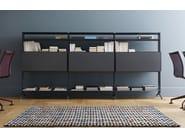 Open modular aluminium bookcase ALINE - J03 - Alias