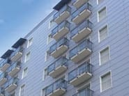 Glass and aluminium Window railing ALL GLASS 60 - ALL MIX 60 - SIAMESI by CASA ITALIA