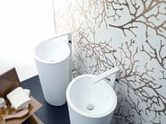Freestanding Krion® washbasin ALMOND | Freestanding washbasin - Systempool
