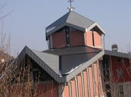 Continuous metal laminate for roof ALUGRAF - Alubel