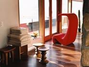 Upholstered fabric armchair AMOEBE HIGHBACK - Vitra