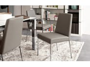 Upholstered leather chair AMSTERDAM | Chair - Calligaris