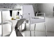 Upholstered leather chair with armrests AMSTERDAM | Chair with armrests - Calligaris