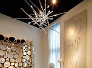 Indirect light blown glass chandelier AND WHY NOT! - Lasvit