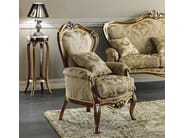 Upholstered fabric armchair with armrests ANDRÉ | Armchair - Arvestyle