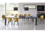 Adjustable fabric chandelier ANDROMEDA | Pendant lamp - Calligaris