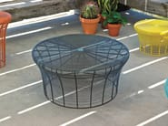 Low round iron coffee table ARAM | Low coffee table - GAN By Gandia Blasco