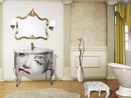 Vanity unit with doors with mirror ARGO CM26CY - LA BUSSOLA