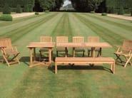 Rectangular teak garden table ARLINGTON | Rectangular table - Tectona