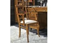 Sedia imbottita con schienale aperto ARMONIE | Sedia con braccioli - Arvestyle