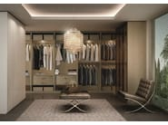 Atlante walk-in closet in stained ash