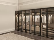 Wardrobe Atlante with Wind hinged doors with transparent glass