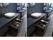 Wooden bathroom cabinet with drawers ATTREZZATURE CASSETTI - Antonio Lupi Design®