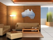 Wall-mounted stainless steel clock AUSTRALIA - Carluccio Design