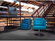 Swivel upholstered easy chair ARTIBELLA | Swivel easy chair - Domingo Salotti