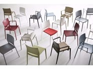 Stackable technopolymer garden chair BAKHITA | Chair - GABER